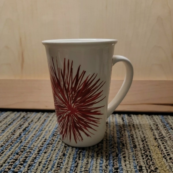 Starbucks 2014 Holiday Red Starburst 12 oz Mug